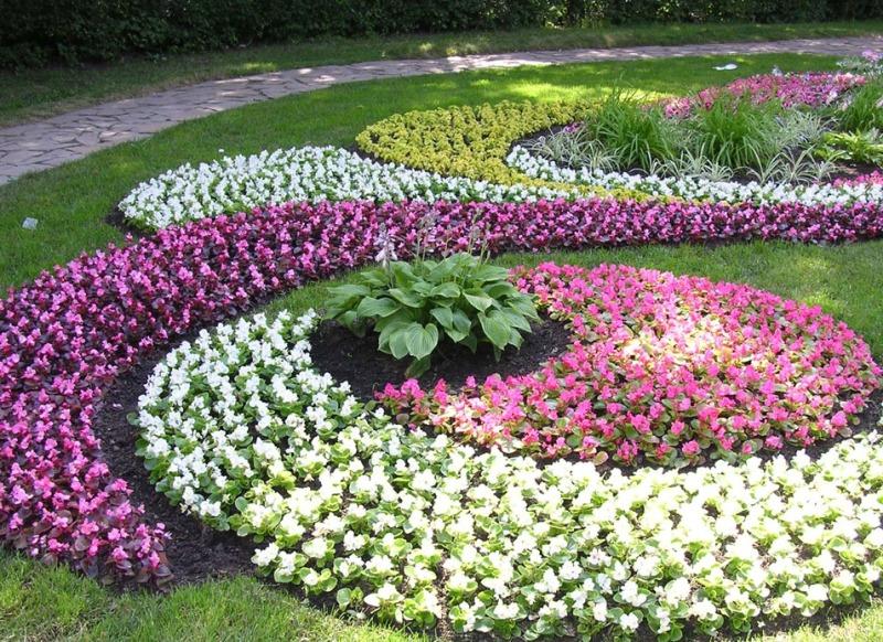 Как красиво сделать цветники